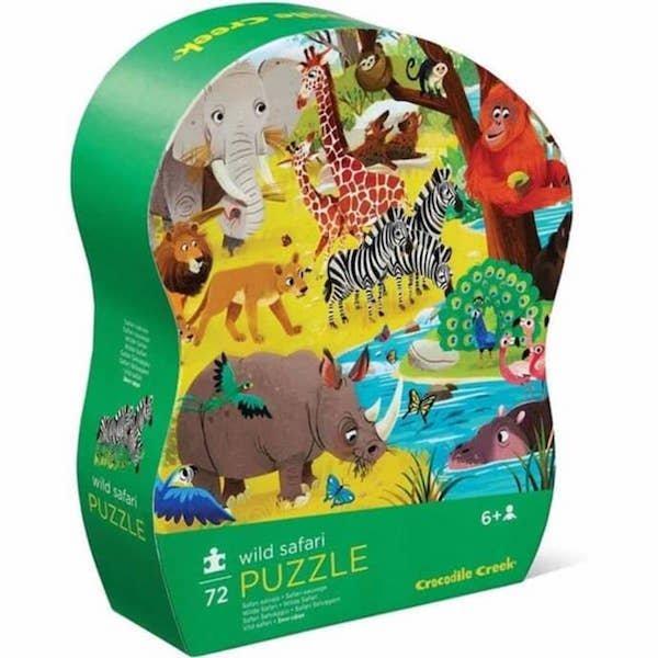 Wild Safari 72 Piece Puzzle by Crocodile Creek