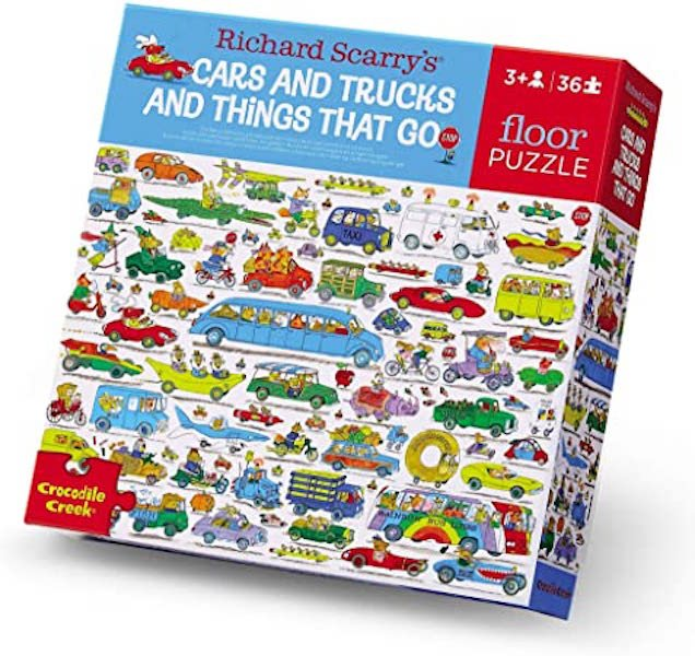 Cars and Trucks and Things That Go 36 Piece Puzzle by Crocodile Creek