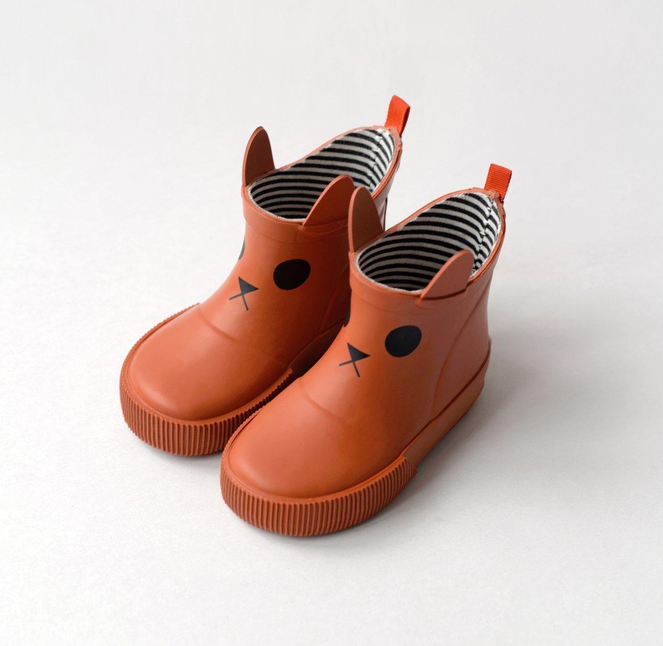 Kitty Rain Boots - Orange by Boxbo
