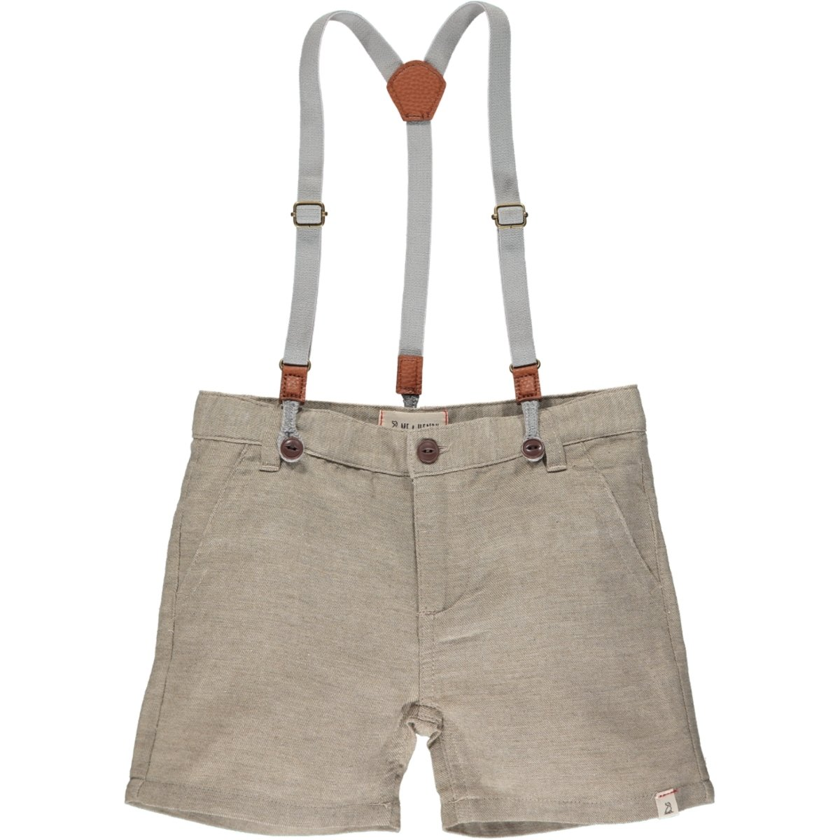 Captain Shorts with Suspenders in Beige by Me + Henry