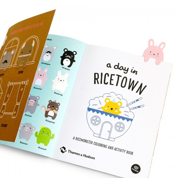 A Day In Ricetown Coloring and Activity Book by Noodoll