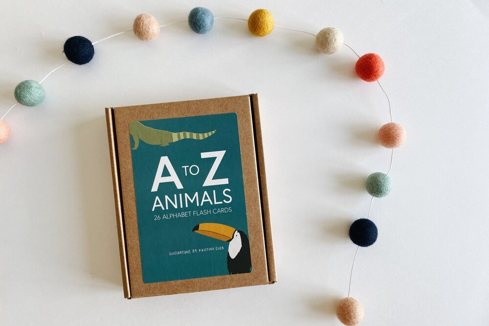 A-Z Animal Flash Cards by Kristina Ellen