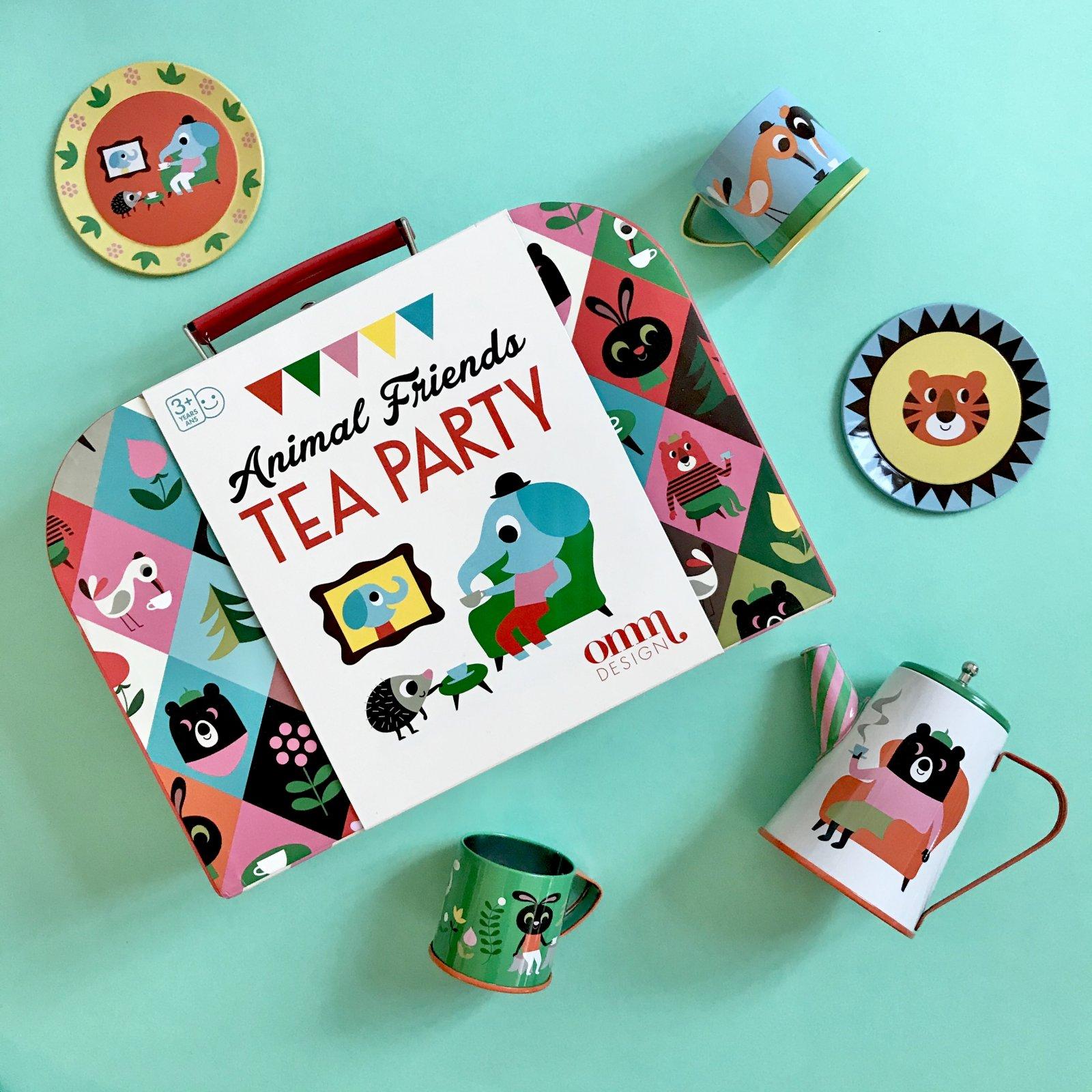 Animal Friends Tin Tea Set by OMM design