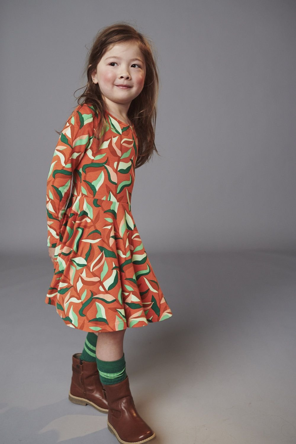 Autumn Jungle Twirl Dress by Lily Balou