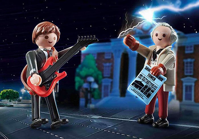 playmobil / Back to the Future Marty McFly and Dr. Emmett BRown