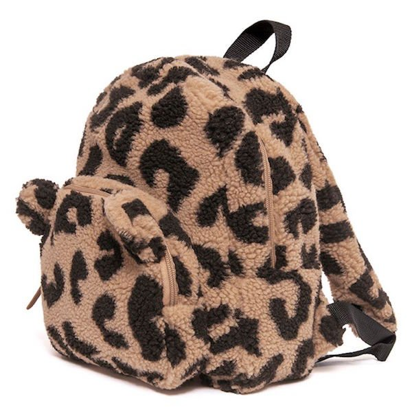 Fluffy Leopard Backpack by Petit Monkey