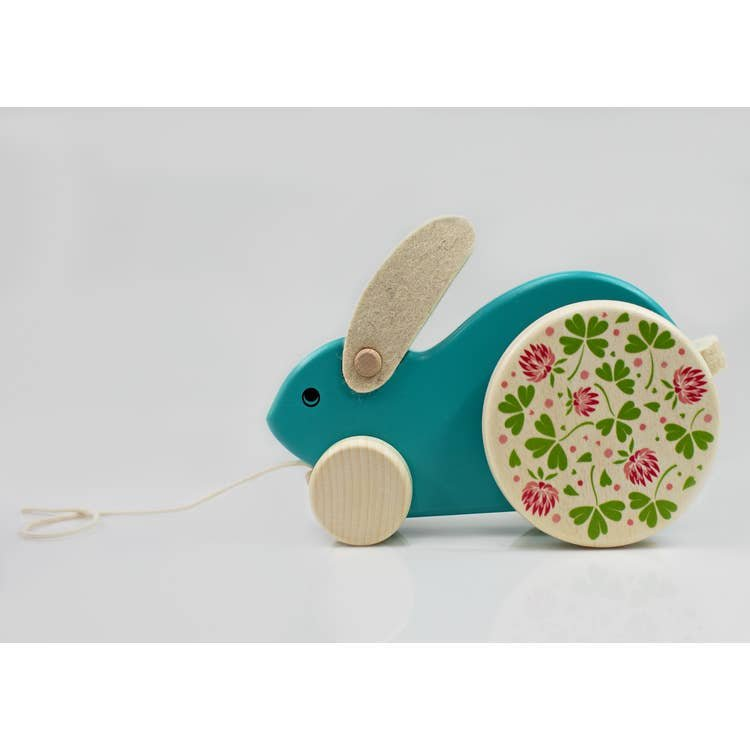 Blue Rabbit Pull Toy by Bajo
