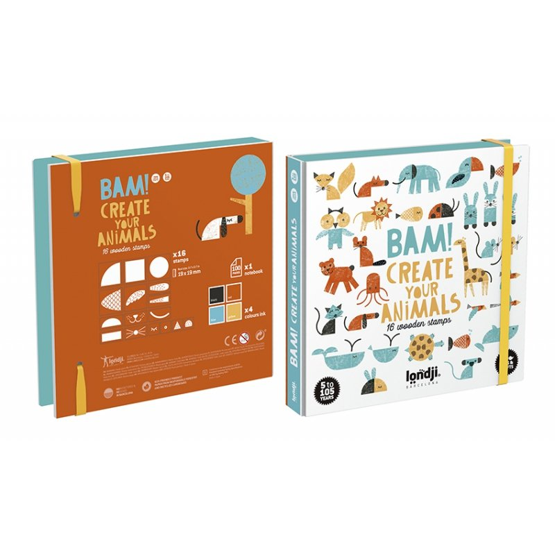 Bam! Create Your Own Animals Stamp Set by Londji
