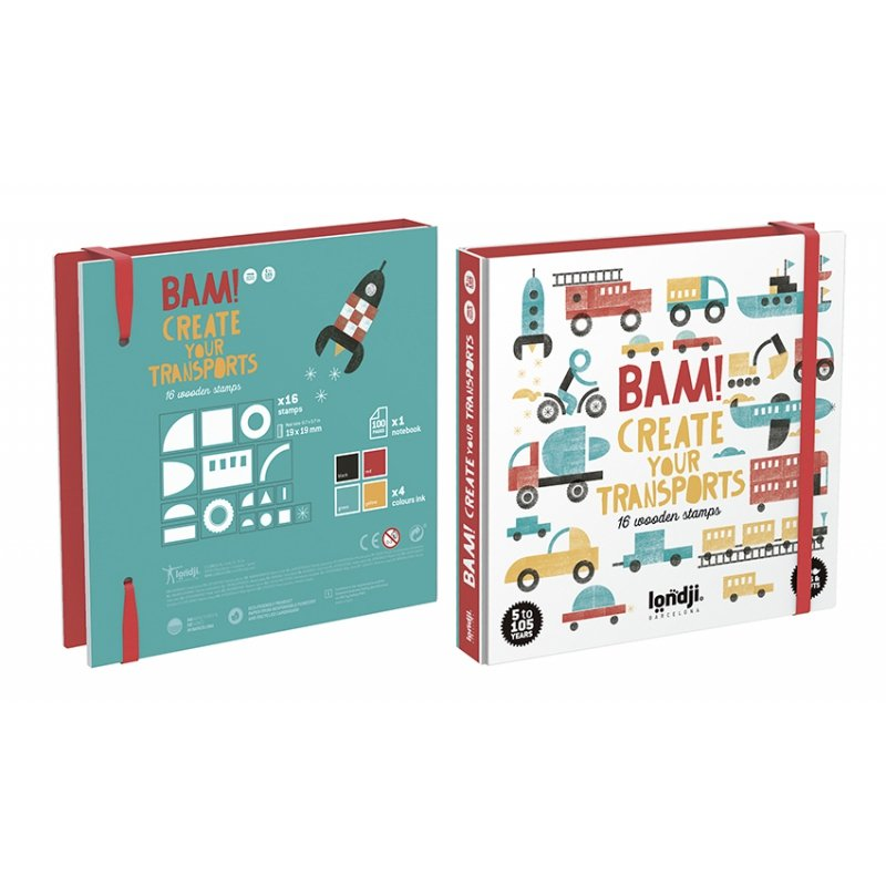 BAM! Create Your Own Transports Stamp Set by Londji