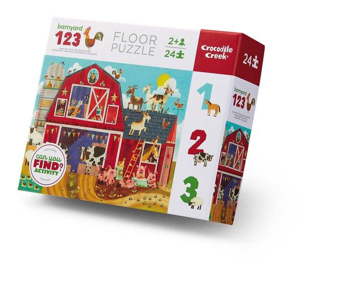 Barnyard 123 24 Piece Floor Puzzle by Crocodile Creek