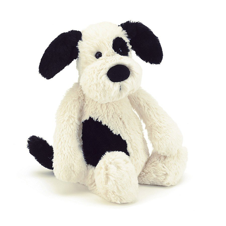 Bashful Black and Cream Puppy by Jellycat