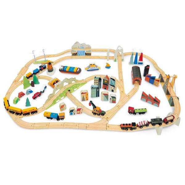 Mountain View Train Set by Tender Leaf Toys