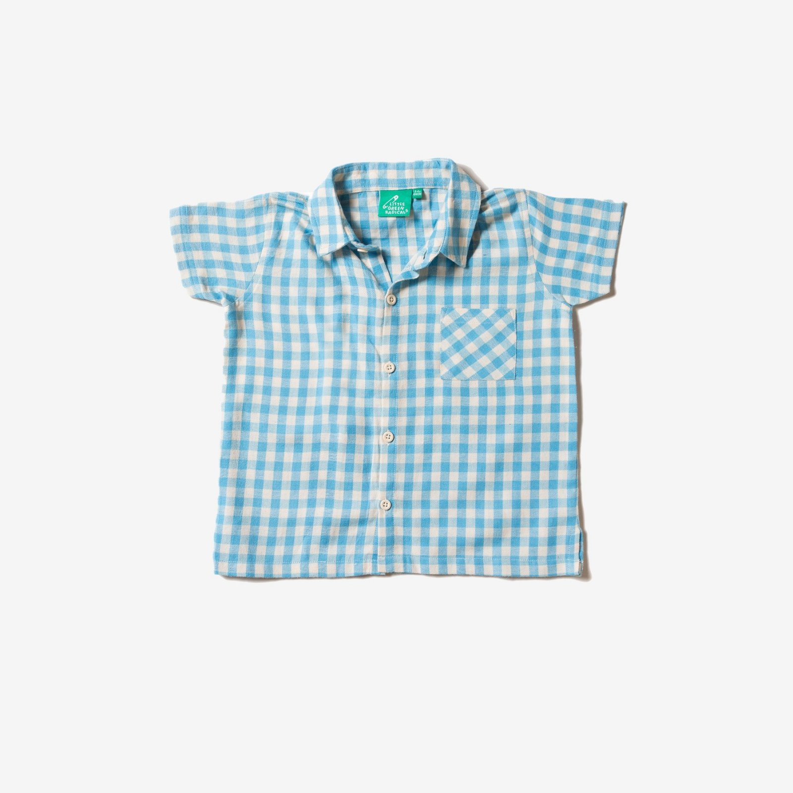 Blue Checkered Button Down by Little Green Radicals