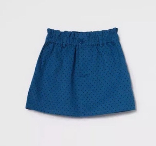 Blue Polka Dot Skirt by Compania Fantastica