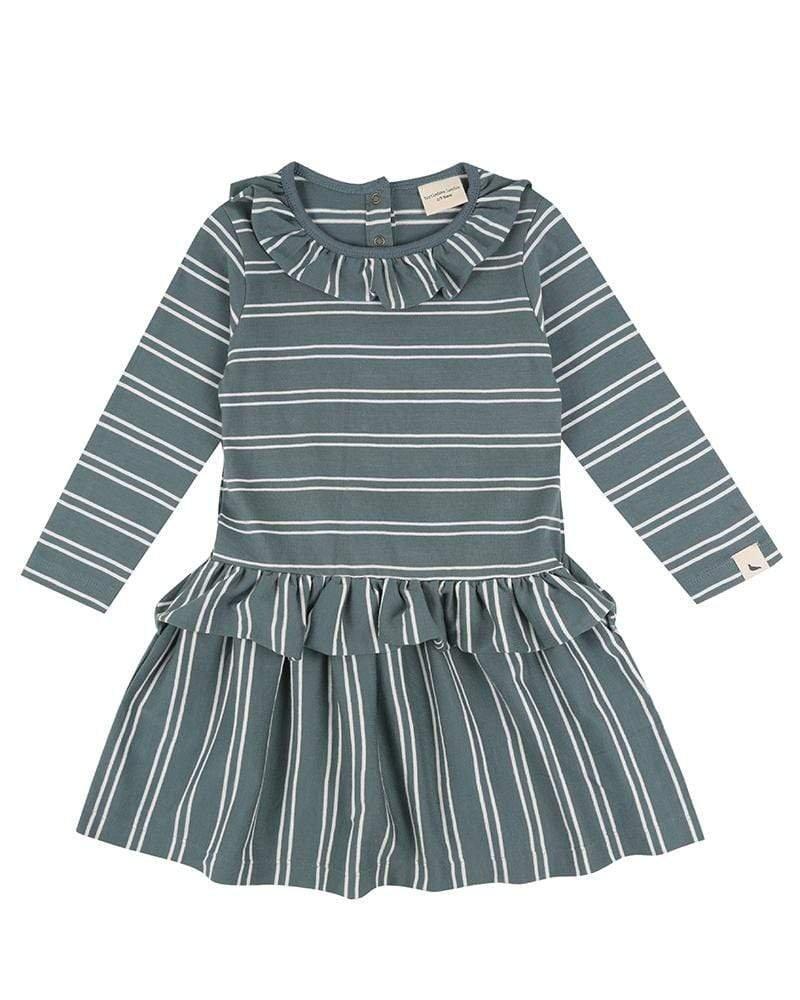 Steel Stripe Dress by Turtledove London
