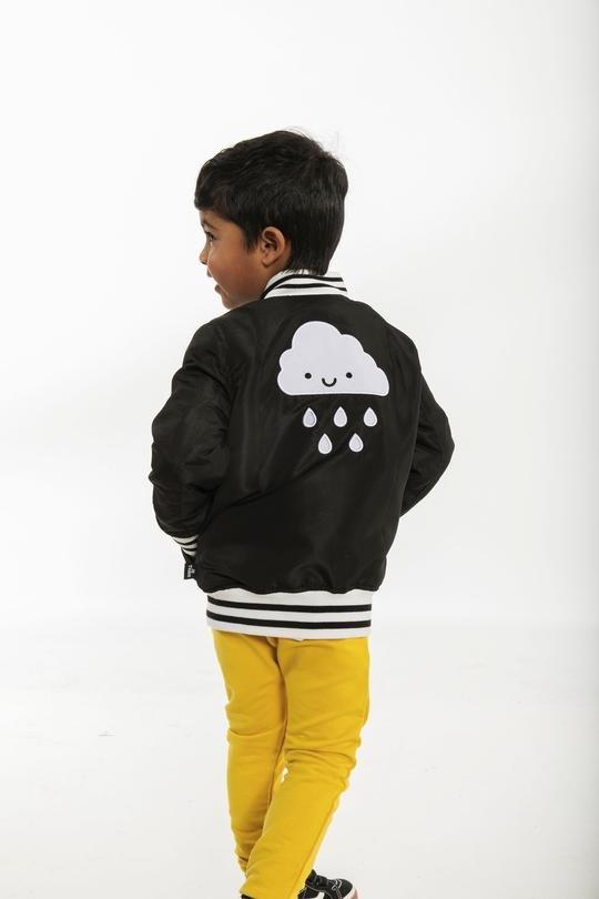 Rain Cloud Bomber Jacket by Whistle & Flute
