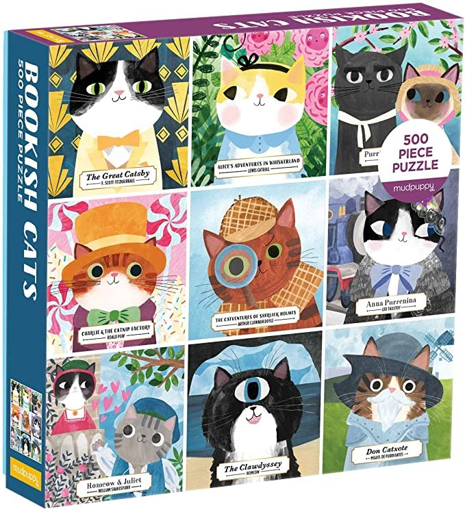 Bookish Cats 500 Piece Puzzle by Mudpuppy