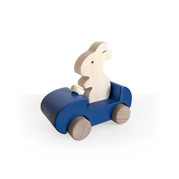 Bunny Car - Blue by Briki Vroom Vroom