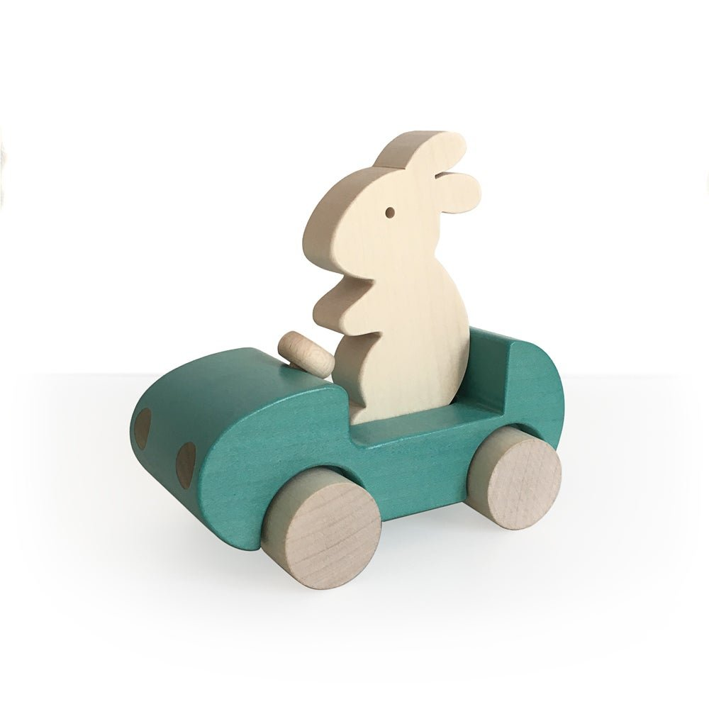 Bunny Car - Turquoise by Briki Vroom Vroom