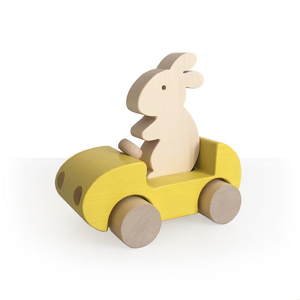 Yellow Bunny Car by Briki Vroom Vroom