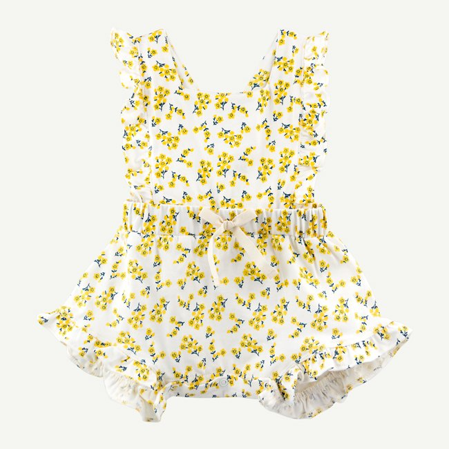 Buttercup Ruffle Romper by Oliver and Rain