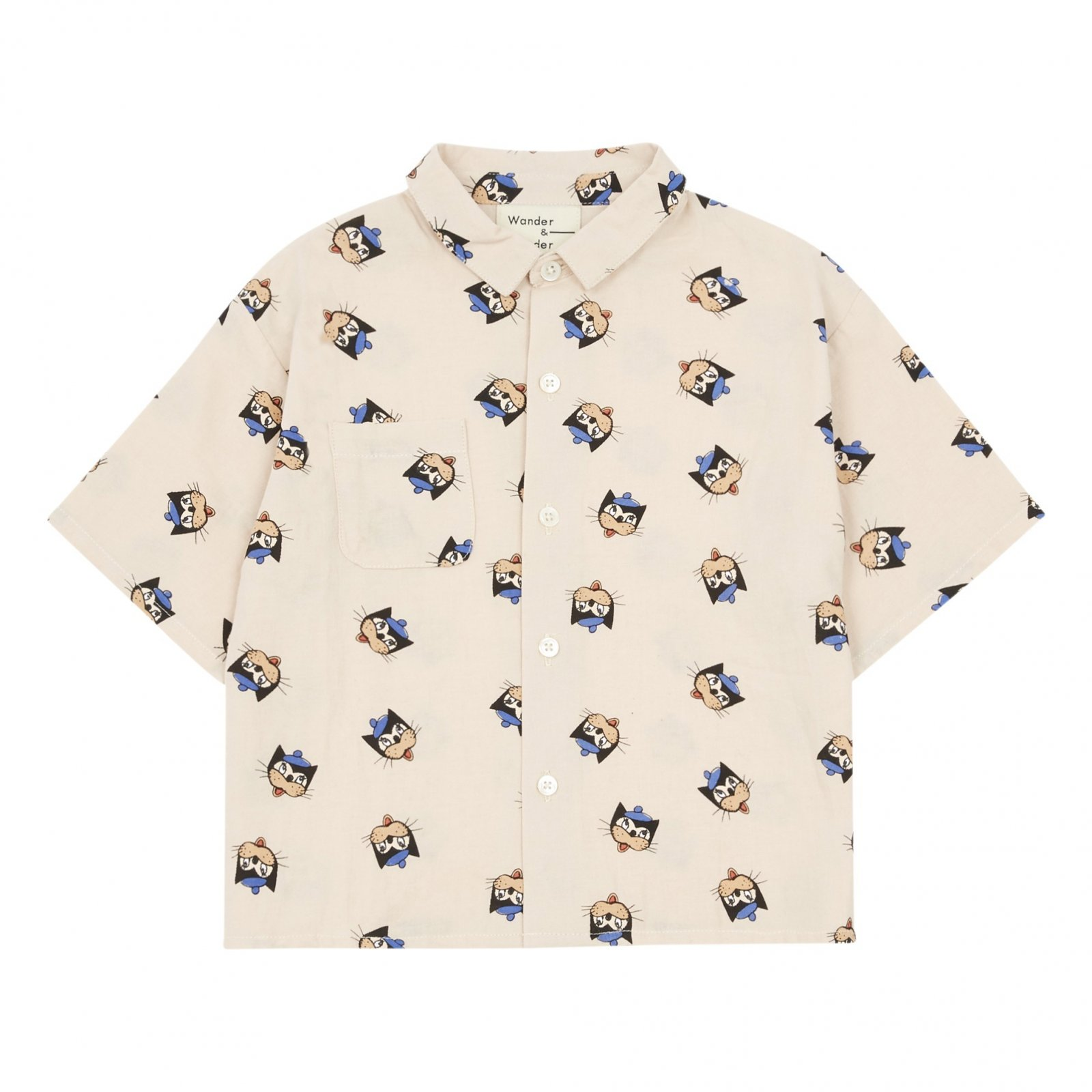 Le Chat Button Up by Wander & Wonder