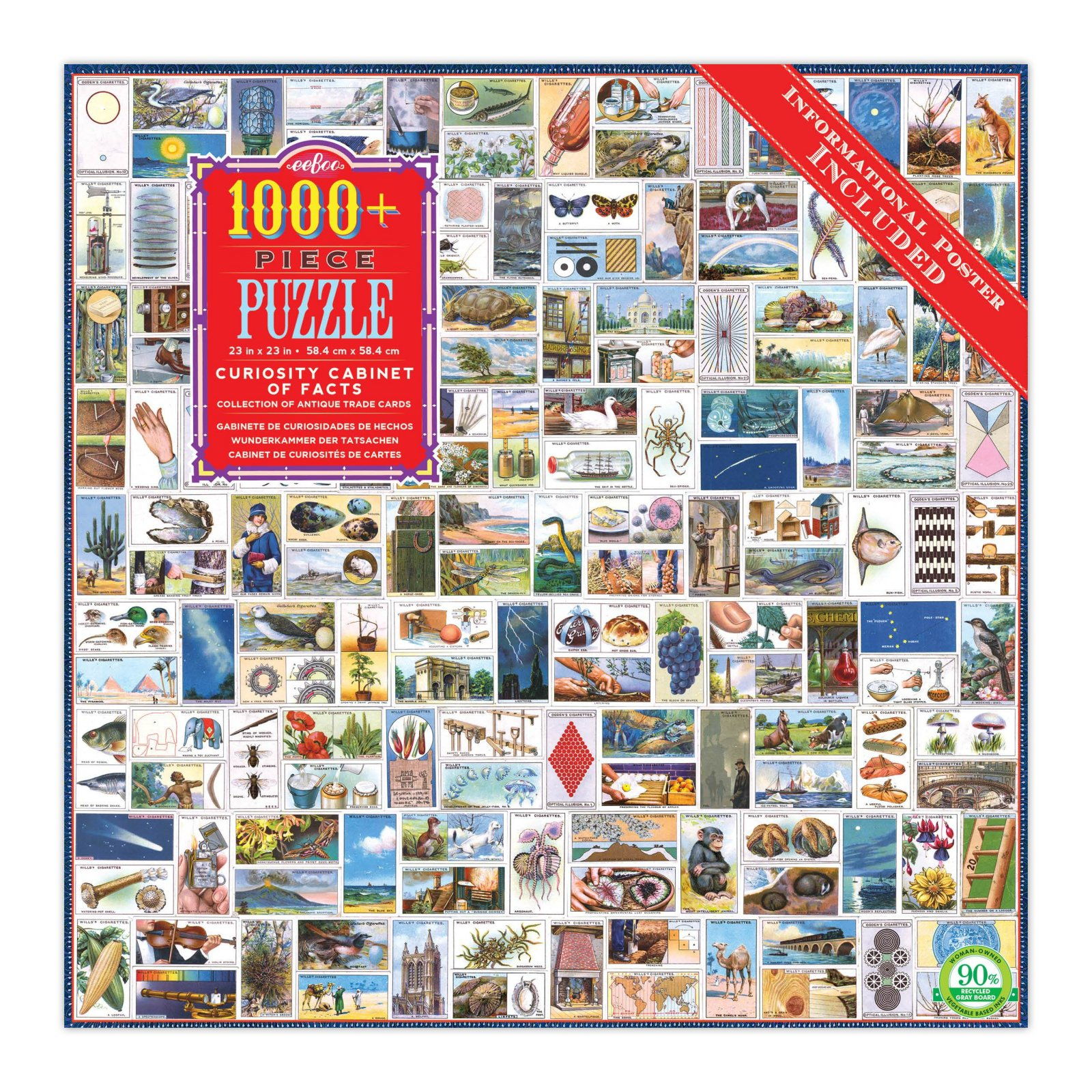 Curiosity Cabinet of Facts 1000 Piece Puzzle by eeBoo
