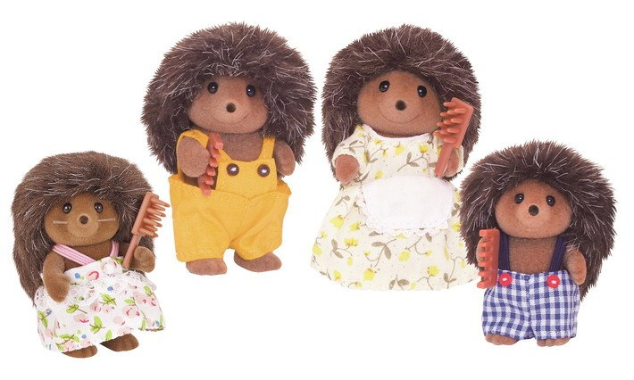 Pickleweeds Hedgehog Family by Calico Critters