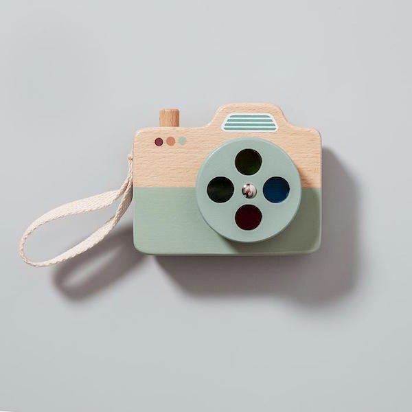 Wooden Camera - Blue by Petit Monkey