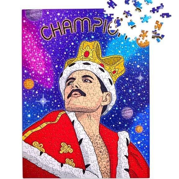 Freddie Mercury 500 Puzzle by The Found