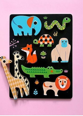Chunky Animal Puzzle by OMM Design