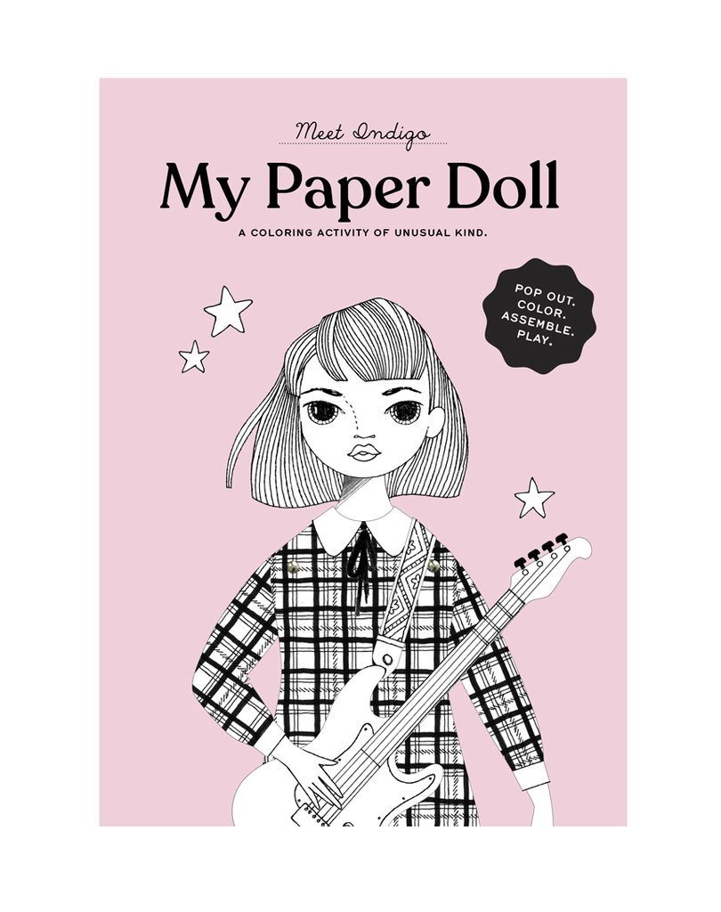 Coloring Paper Doll Kit - Indigo by Of Unusual Kind