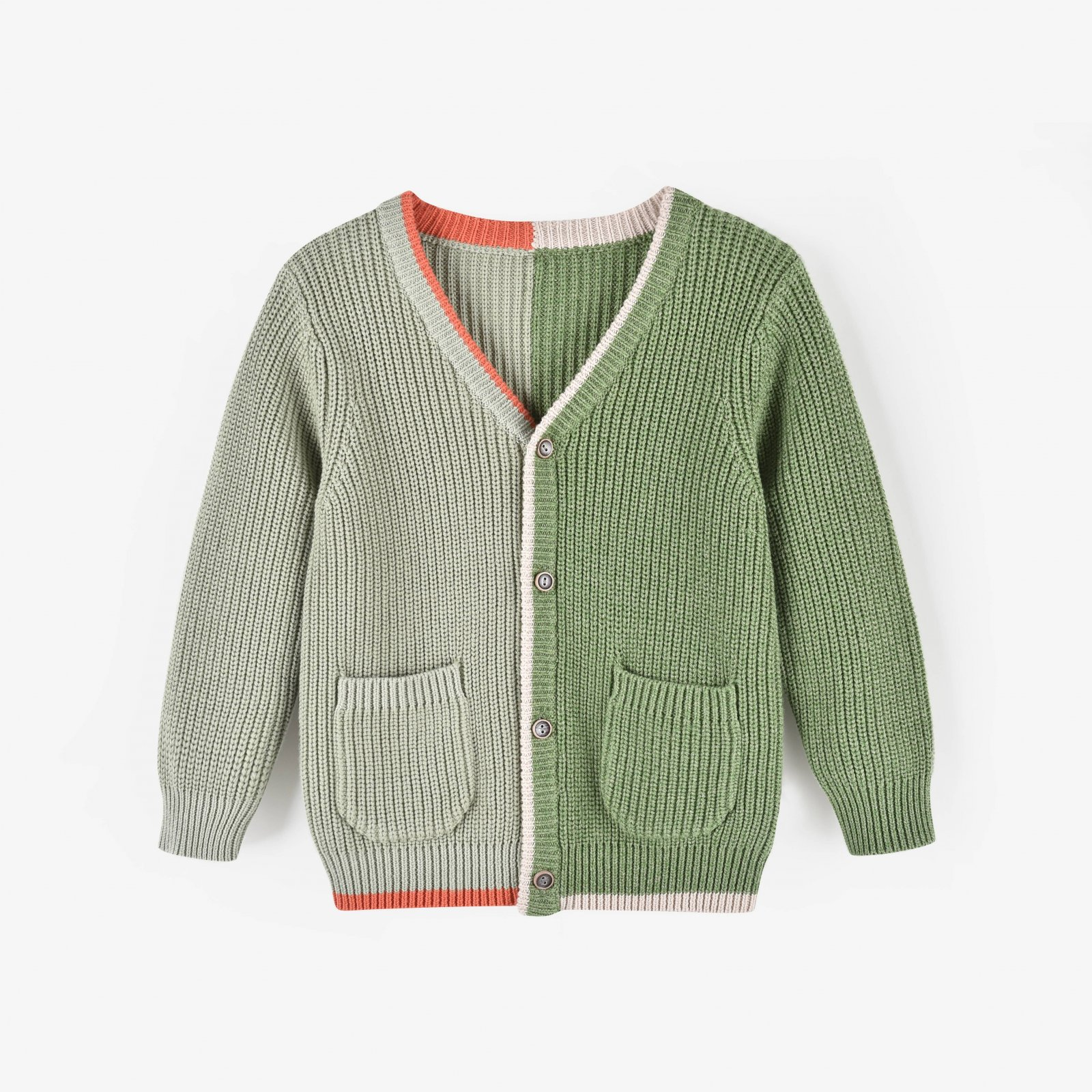 Olive You Color Block Cardigan by Aimama