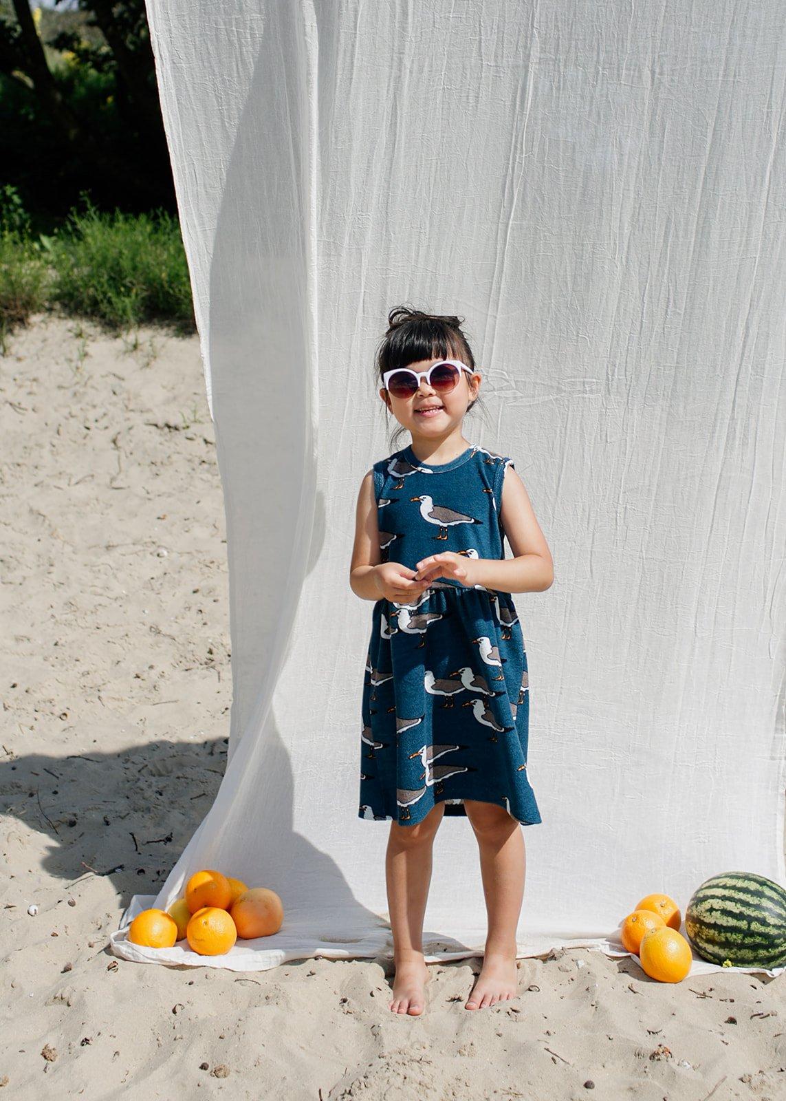 Sandy Seagull Terrycloth Dress by Carlijnq