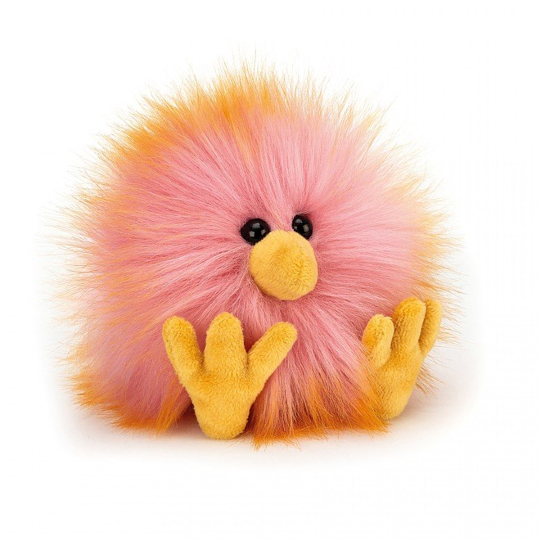 Yellow and Pink Crazy Chick by Jellycat