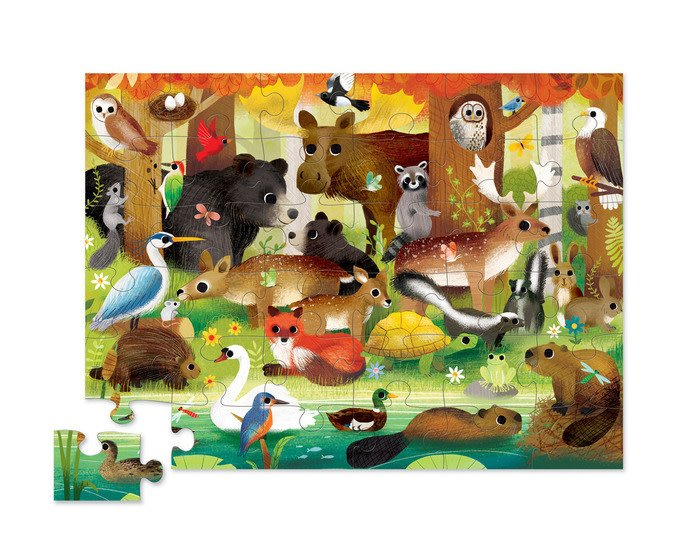 Forest Friends 36 Piece Puzzle by Crocodile Creek