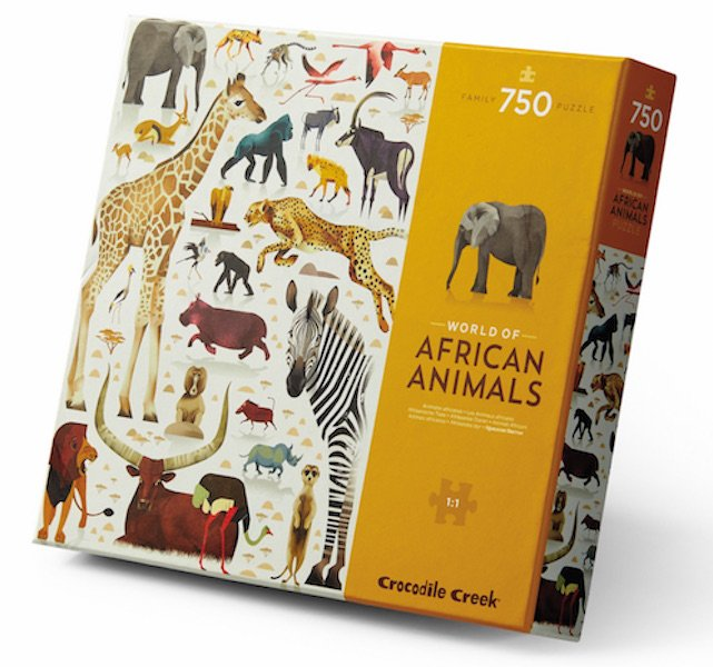 World of African Animals 750 Piece Puzzle by Crocodile Creek