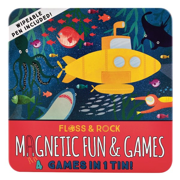 Magnetic Fun and Games Tin - Deep Sea by Floss & Rock