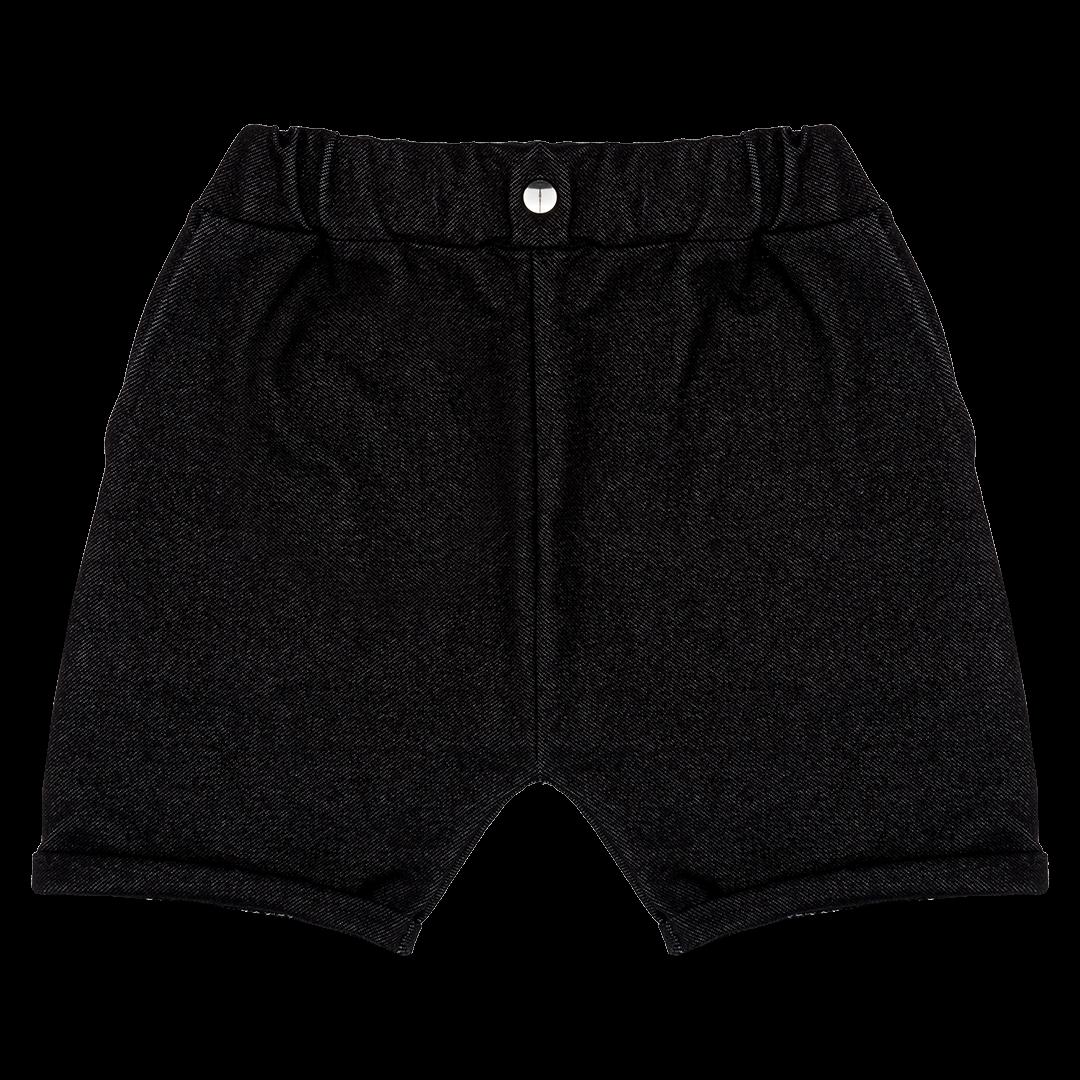 Black Denim Shorts by Raspberry Republic