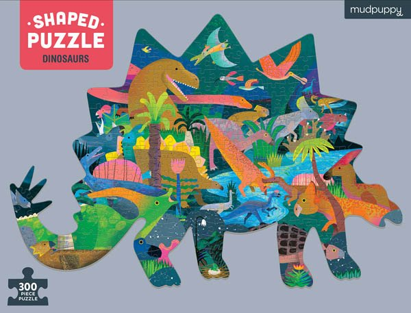 Dinosaurs 300 Piece Shaped Puzzle by Mudpuppy