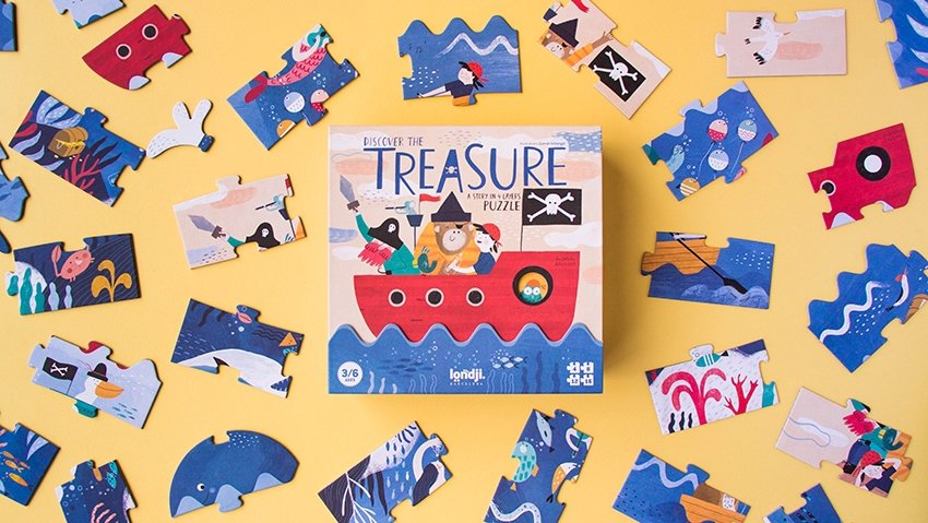 Discover the Treasure Puzzle Set by Londji