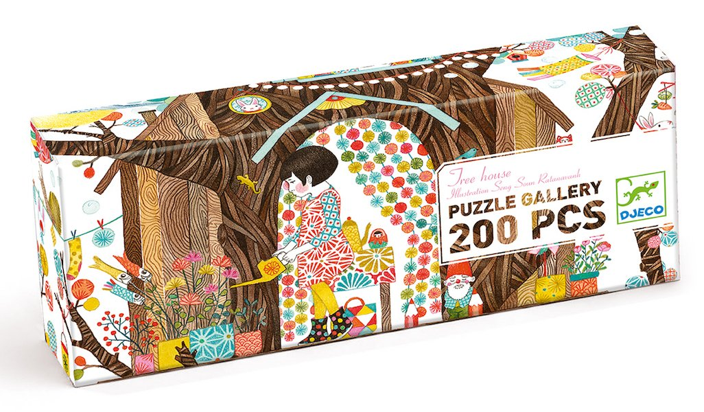 Gallery Puzzle 200 Pieces - Treehouse by Djeco
