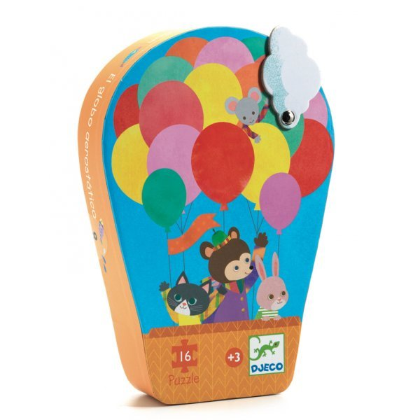 Hot Air Balloon 16 Piece Puzzle by Djeco