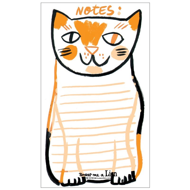 Cat Note Pad by Draw Me A Lion