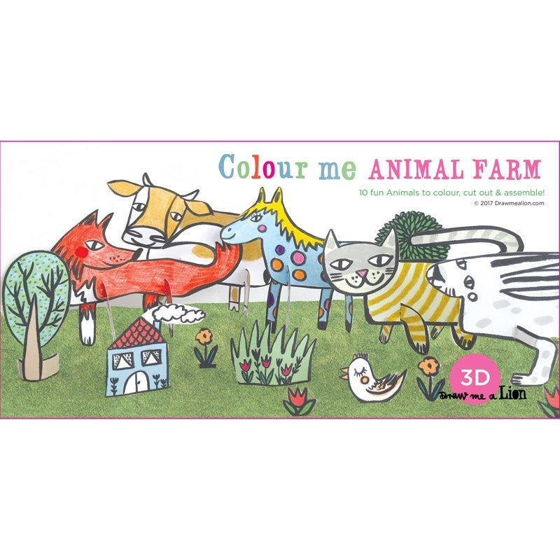 3D Colour Me Animal Farm by Draw Me A Lion