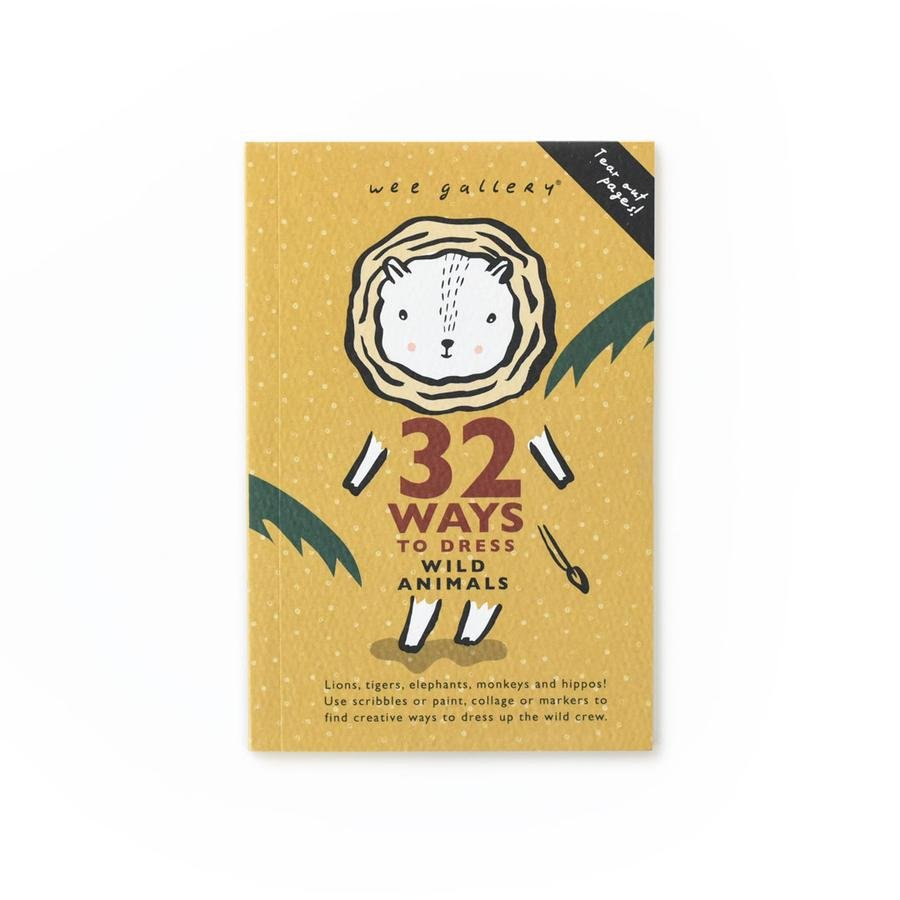 32 Ways to Dress Wild Animals Activity Book by Wee Gallery