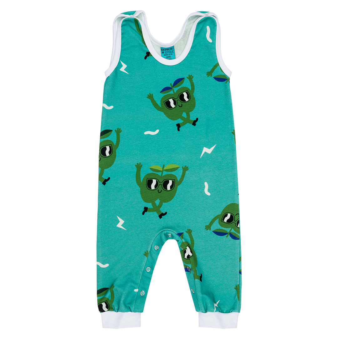 Juicy Apple Dungarees by Raspberry Republic