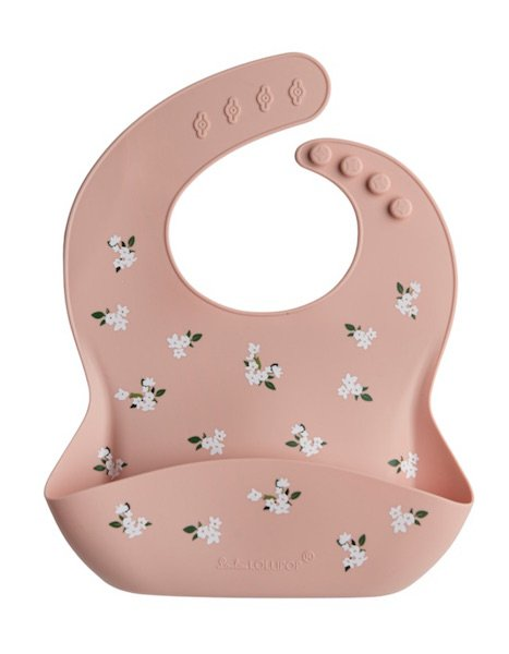 Silicone Bib - Flowers by Loulou Lollipop