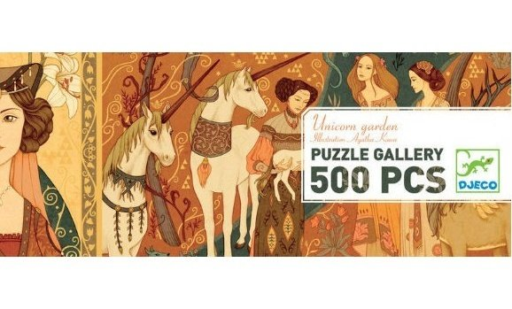 gallery puzzle - unicorn garden by Djeco