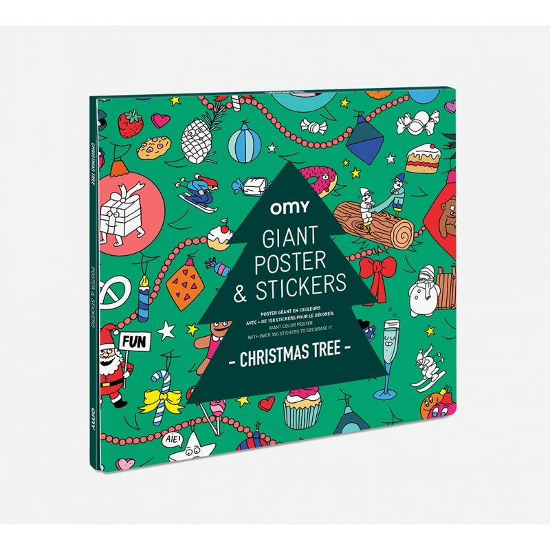Giant Poster & Stickers Christmas Tree by OMY
